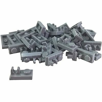 Lego 4 Light Bluish Gray 1x1 plate with top clip NEW
