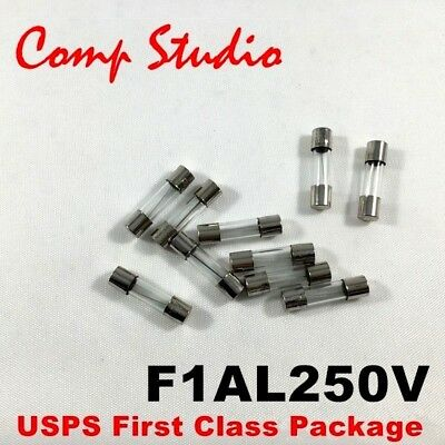 Comp Studio LOT OF 10 1A 250V FUSES F1AL250V 1 Amp Fast-Blow FUSE 5mm x 20mm C