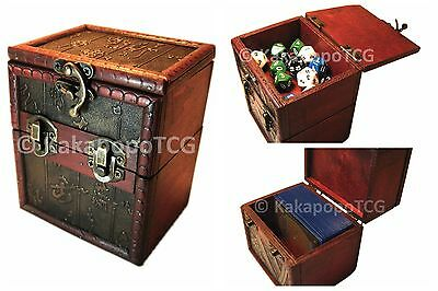 Wooden Deck & Counter Box Mtg Magic Yugioh Pokemon Dice Commander Kakapopo TCG