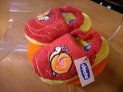 Scarpe shoes pantofole inverno bambino CHICCO NR. 26 27 rosso natale nuove!