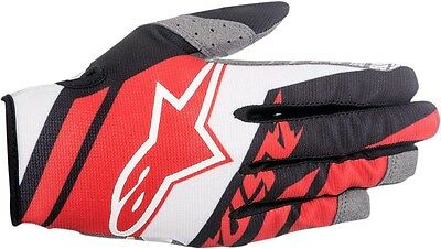 ALPINESTARS MX Motocross Offroad SUPERMATIC Gloves (Red/White/Black) Choose Size