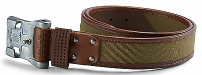 ICON 1000 ELSINORE Cotton/Leather Belt (Brown) Choose Size