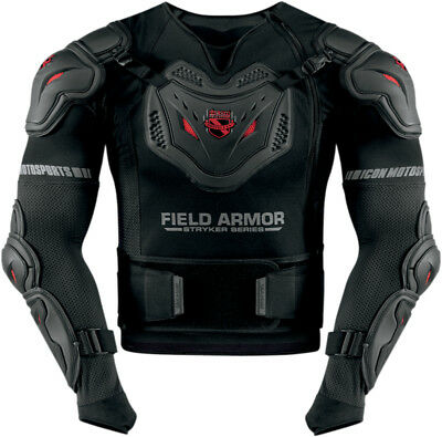 ICON Stryker Rig Motorcycle Armor Jacket (Black) Choose Size