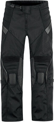 ICON Overlord Resistance Textile/Leather Motorcycle Pants (Stealth) Choose Size