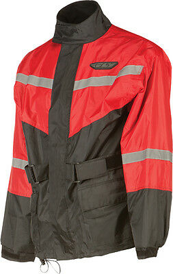 FLY RACING Two-Piece Motorcycle Rain Suit (Black/Red) Choose Size