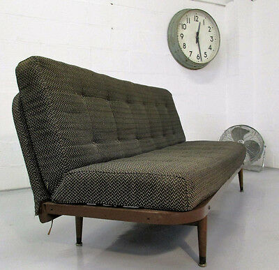 Quality Vintage Rare Retro Mid Century 50S Metal Fabric Day Bed Settee/sofa