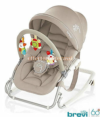 Brevi Bouncer Gaia colour turtledove for nanna and relax del baby childcare baby