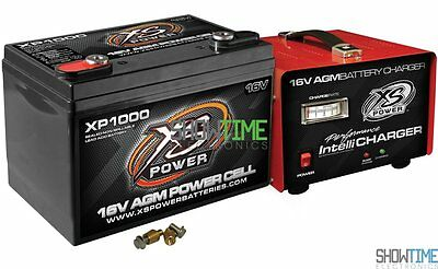 XS Power XP1000 16V 2400A Battery/Power Cell + 1004 15a Charger Combo Package