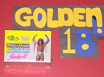 Wwf Classic History Of Wrestlemania Complete Set 150 Collectors Trading Cards