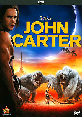 "John Carter (DVD, 2012) Based on Edgar Rice Burroughs ""Princess of Mars"""