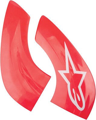 ALPINESTARS Replacement Chin Plate for BNS Tech Carbon Neck Support (Red/White)