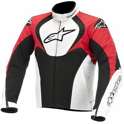 ALPINESTARS T-Jaws Waterproof Textile Motorcycle Jacket (Black/White/Red) Large