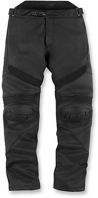 ICON HYPERSPORT Leather/Textile Motorcycle Pants (Stealth/Black) 34