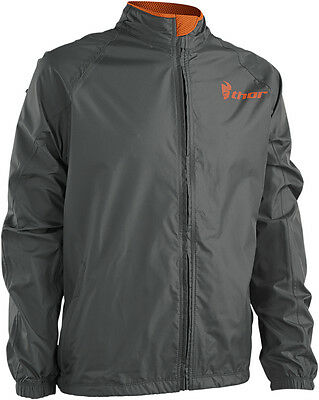 THOR MX Motocross/Offroad/Dual Sport Mens PACK Jacket (Charcoal/Orange) X-Large