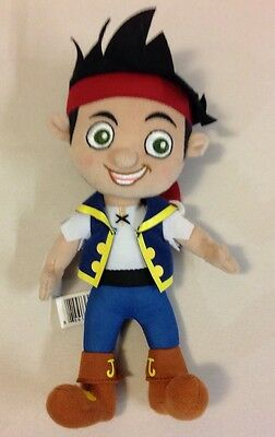 "Jake And The Never Land Pirates Doll 9"" Stuffed Animal Plush Disney Toy"