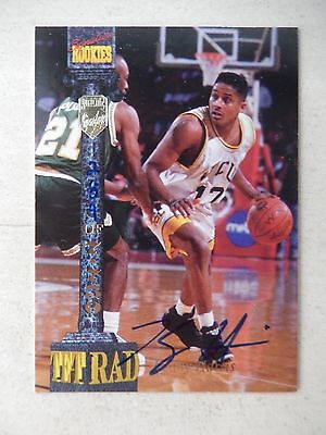 Kenny Harris  Autographed 1994 Signature Rookies Basketball Card