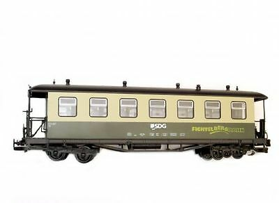 Train Passenger car,Arched roof,green beige,SDG Fichtelbergbahn,G Scale,for LG