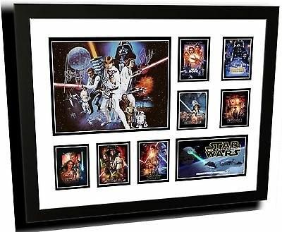 Star Wars Collection 1-7 Signed Limited Edition Framed Memorabilia