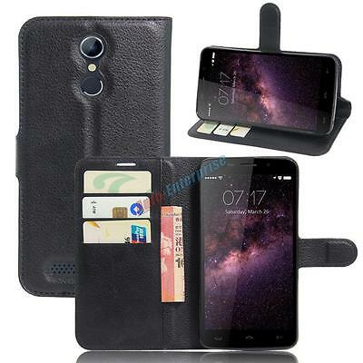 """Luxury Folio Flip PU Leather Case Cover Skin For 5.5"""" Homtom HT17 Mobile Phone"""