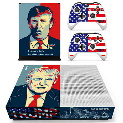 Donald Trump Vinyl Decal Skin Stickers for Xbox One S Console & 2 Controllers