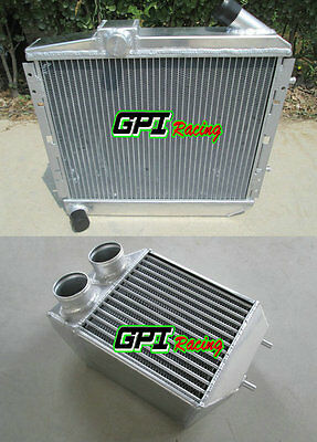 Aluminum Radiator & Intercooler RENAULT SUPER 5/R5 9/11 1.4L GT TURBO MT 85-91