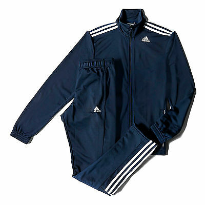 adidas Mens Entry Sports Tracksuit Set Navy Blue