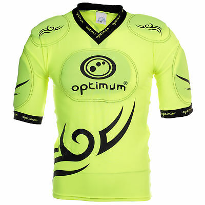 Optimum Tribal Five Pad Long Kids Adult Rugby Body Protection Fluro