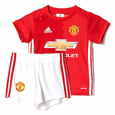 adidas Manchester United 2016/17 Kids Infant Baby Home Kit Red