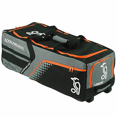 Kookaburra Pro 400 Wheelie Cricket Holdall Rucksack Bag Grey / Orange