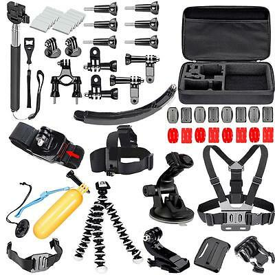 51in1 Head Chest Mount Floating Monopod Accessories Kit For GoPro 2 3 4 Camera