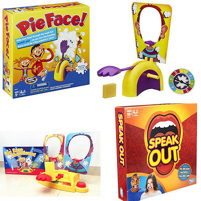 Hasbro Pie Face Showdown Game Dual Challenge ready to ship Family Time Speak out