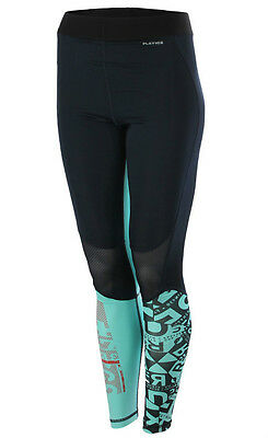 New Womens Ladies Reebok Leggings Bottoms Pants - Running Fitness Gym - Navy