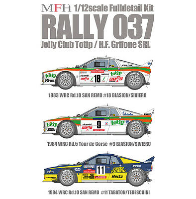 Model Factory Hiro 1/12 Rally 037 Ver.D:Jolly Club Totip 1983 WRC Rd.10 San Remo