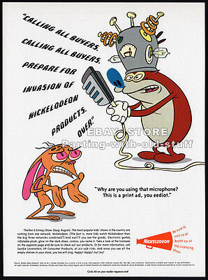 THE REN & STIMPY SHOW__Original 1993 Trade Print AD / TV promo__NICKELODEON