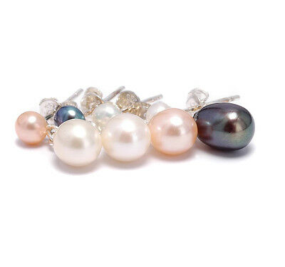 Pearl Earrings Stud Drop Cultured Freshwater Pearls Sterling Silver