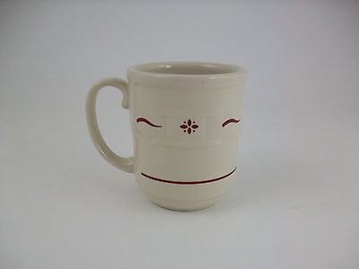 Longaberger Woven Traditions Traditonal Red Coffee Mug Made in the USA!