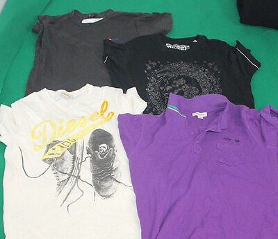 Job Lot Wholesale 4 Vintage Genuine Diesel Tees T Shirt Polo Men Size Vary  Hj44