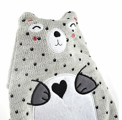 Hot Buddies Knitted Cover Woodland Bear Hot Water Bottle 750ml (Bottle Included)