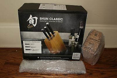 NIB Williams Sonoma Shun Classic 4-piece set Knife Block set