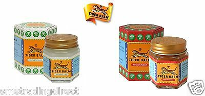 Baume du Tigre (Tiger Balm) Twin Pack  - 1 x Blanc  et  1 x Rouge  30 Gramme