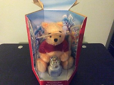 Winnie the Pooh w/ Snow Globe Disney Store Holiday Special Edition