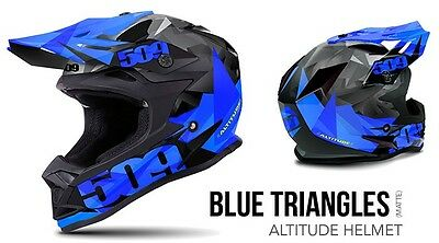 New 509 Altitude Snowmobile Helmet Blue Matte Md 509-Hel-Ast-Md