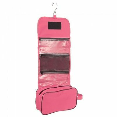 Tough 1 Pink Heavy Nylon Roll Up Accessory Bag Grooming Caddy Clippers Case New