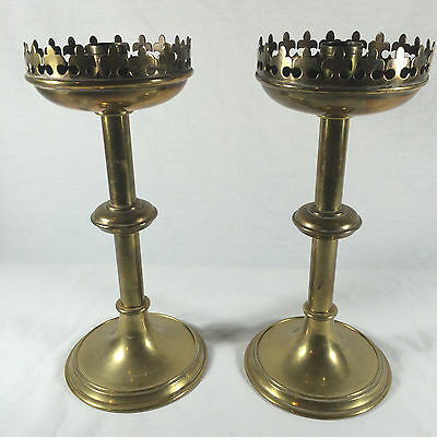 Beautiful Large French Antique/Vintage Church Bronze Candlestick Candle Holder 2
