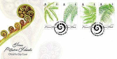 Pitcairn Islands 2016 FDC Ferns of Pitcairn 4v Set Cover Plants Flora Stamps