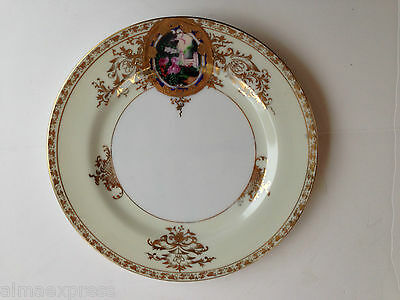 "Hand Painted Abura China A1U1 Occupied Japan Gold Embossed - 7-1/2"" BREAD PLATE"