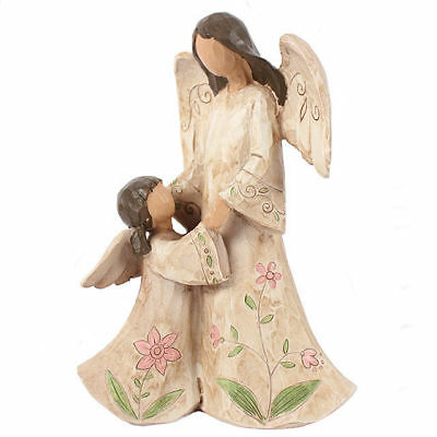 Mother Daughter Angel Keepsake  Statue Figurine Ornament Gift New Boxed