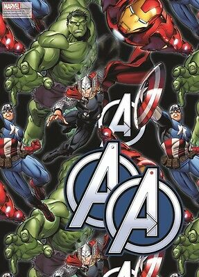 Marvel Avengers 2 SHEETS And 2 TAGS Gift Wrap Wrapping Paper