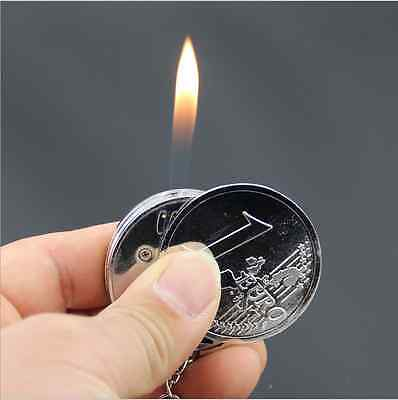 Creative Coin Models Cigarette Lighters Useful Gifts Creative Flame Inflatable L
