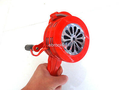 Handheld Loud Hand Crank Manual Operated Air Raid Alarm Portable Siren Red